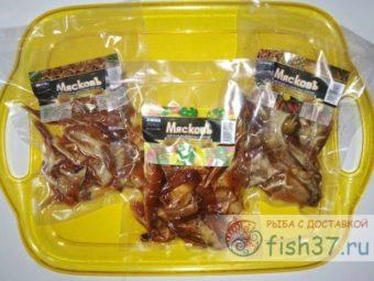 Ушки свиные копченые по 100 гр