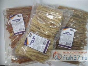 Рыбная вяленая и сушеная соломка по 1 кг